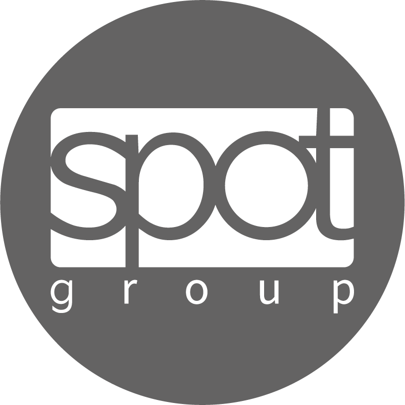 Spot group, Logo, rund, grau